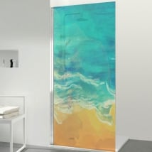 Vinyls screens beach colors