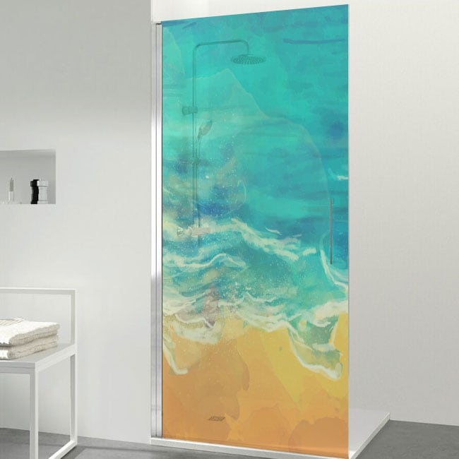 Vinyls screens beach colors