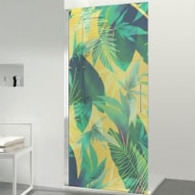 Vinyls for bathroom screens color tropical