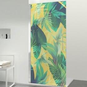 Vinyls for bathroom screens color tropical