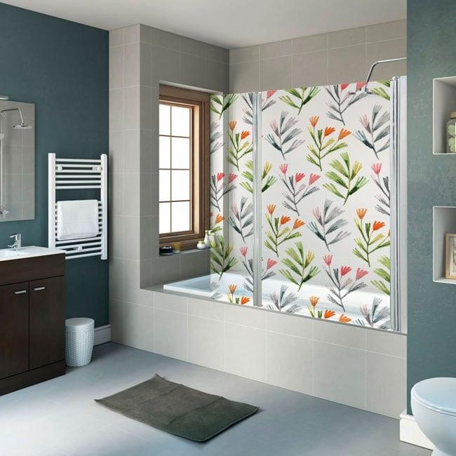 Vinyls screens bath flowers