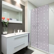 Vinyl screens bathroom lines