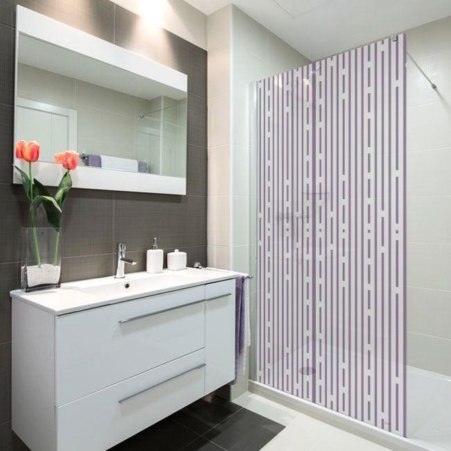 Vinyl screens bathroom lines