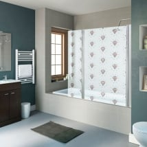 Vinyls screens diamonds bathrooms