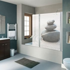 Vinyls bath screens zen stones