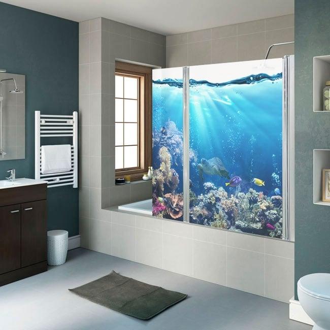 Vinyl shower screens marine world