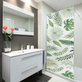 Vinyls screens baths leaves nature
