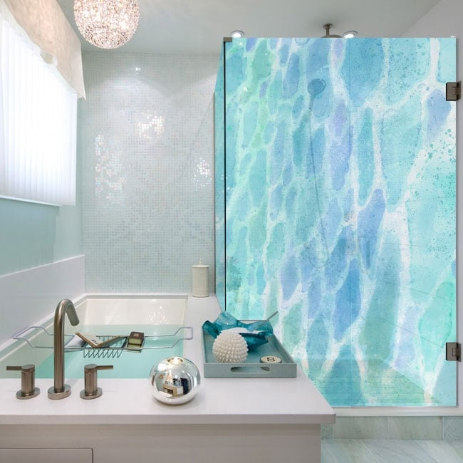 Vinyl shower screens colors watercolor