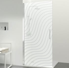 Vinyls for shower screens ripples