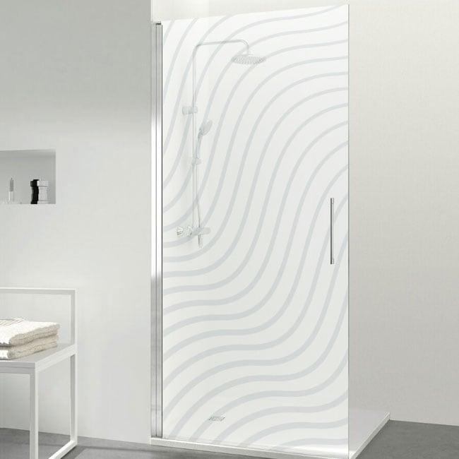 Vinyls for shower screens ripples