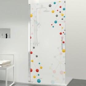 Vinyl screens baths molecules