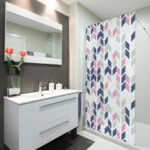 Vinyl screens bathrooms retro style
