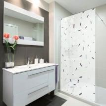 Vinyl screens bathrooms memphis style
