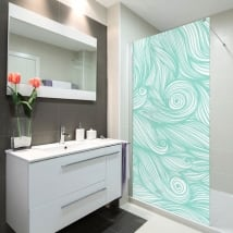 Vinyl bathroom screens waves