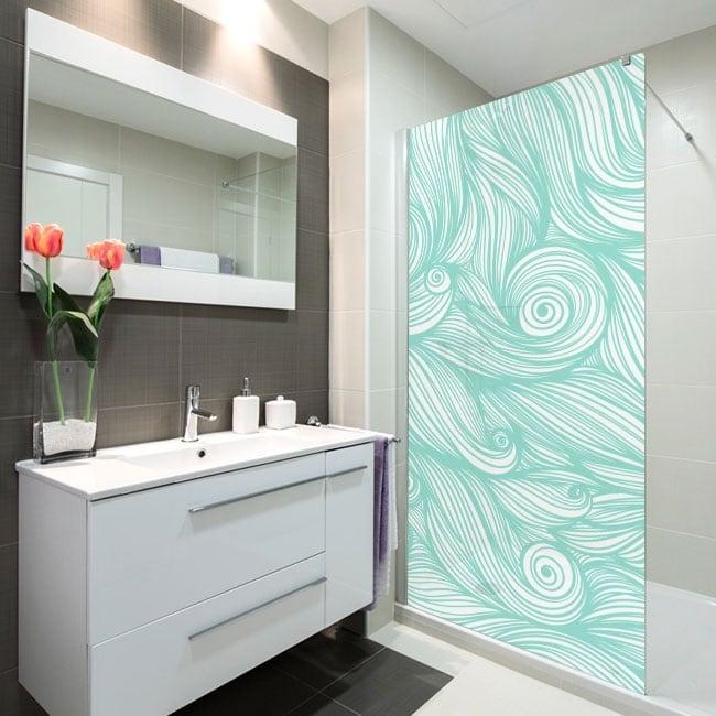 Vinyl bathroom screens waves