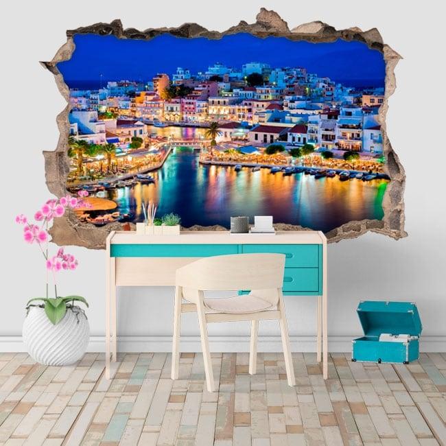 Decorative vinyl greece nikolaos island of crete