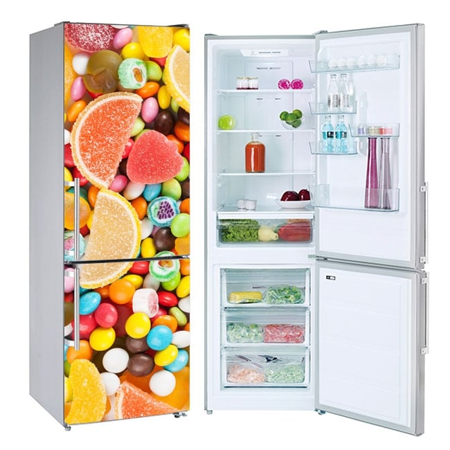 Vinyls for refrigerators sweets and jelly beans