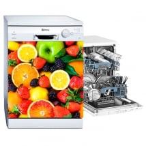 Vinyl dishwasher fruit collage