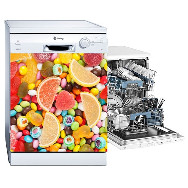 Vinyl for dishwasher sweets and jelly beans