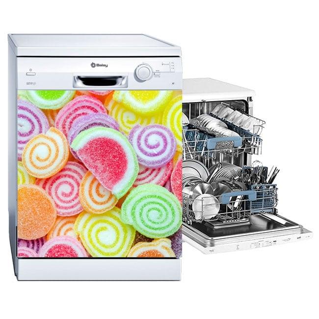 Decorative vinyl dishwashers jellybeans