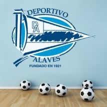 Vinyl football shield alavés sports