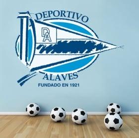 Vinyl football shield alavés sports