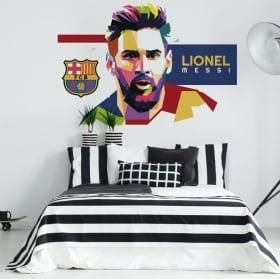 Vinyl lionel messi barcelona football