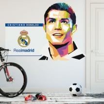 Vinyl cristiano ronaldo real madrid football