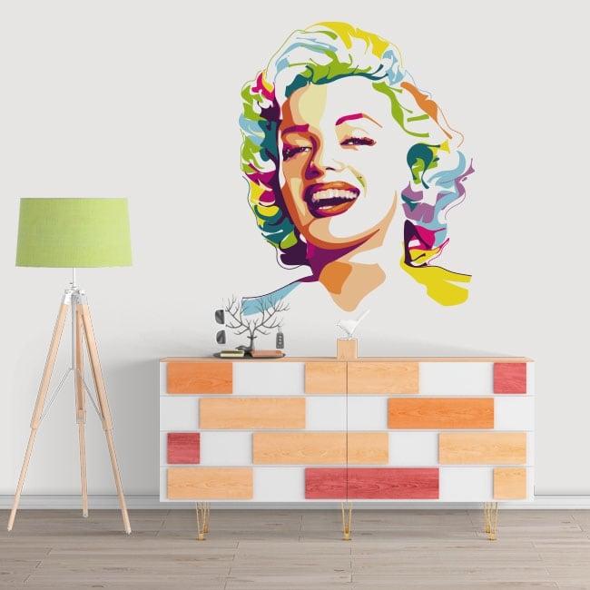 Decorative vinyl marilyn monroe