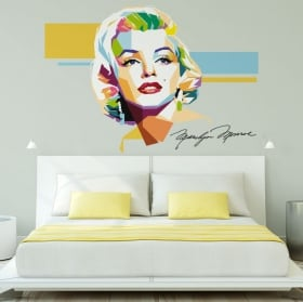 Vinyl and stickers marilyn monroe