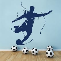 Decorative vinyl football splash
