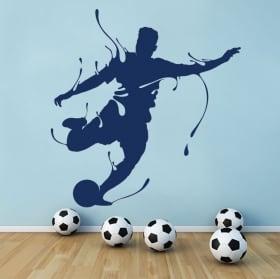 Decorative vinyl football splash