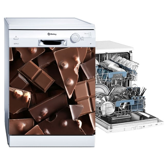 Decorative vinyl dishwasher chocolates