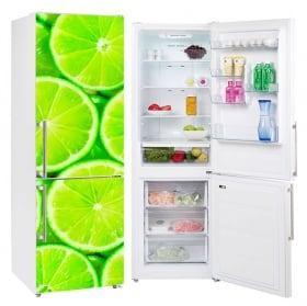 Vinyl coolers and refrigerators lemons