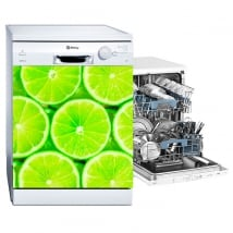 Decorative vinyl dishwasher lemons