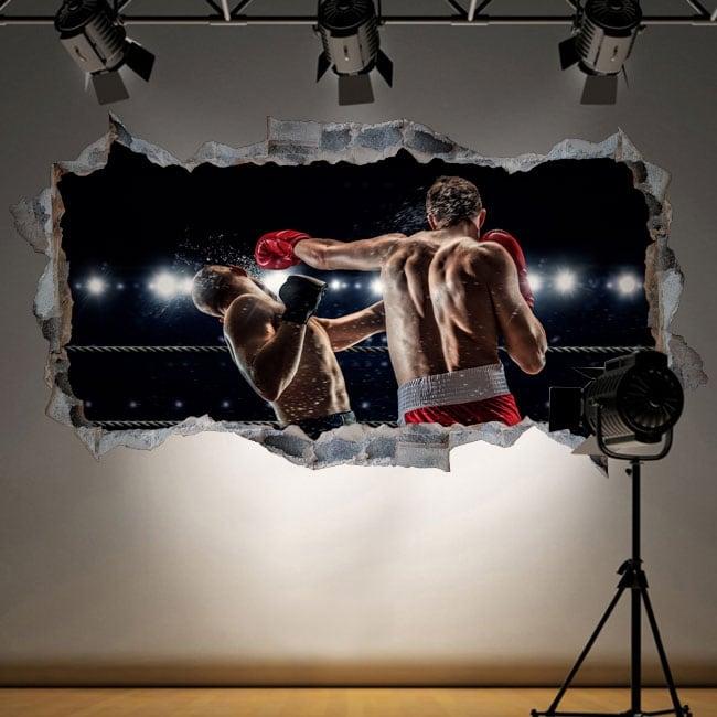 Decorative vinyl boxing hole wall 3d