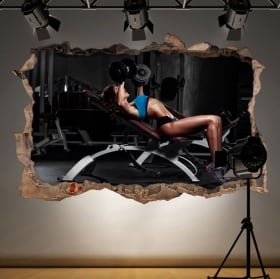 Decorative vinyl gym fitness 3d
