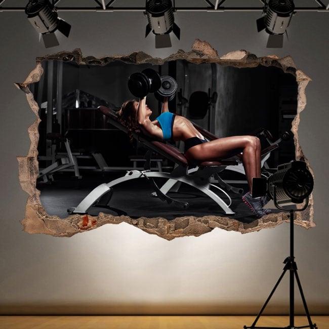 Decorative vinyl gym fitness 3d