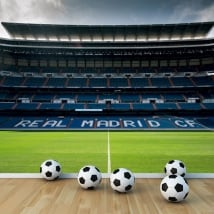 Wall murals real madrid football stadium