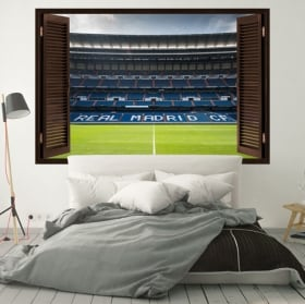 Vinyl walls santiago bernabeu stadium window 3d