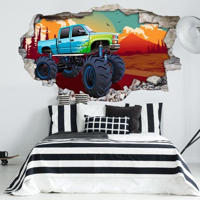 Vinyl walls monster truck 3d