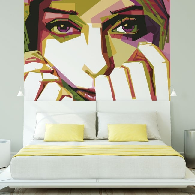 Vinyl walls silhouette woman hijab