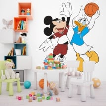 Vinyl mickey mouse and donald duck basketball