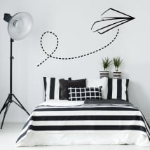 Decorative vinyl airplane paper silhouette