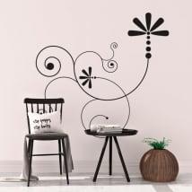 Vinyl walls floral motif