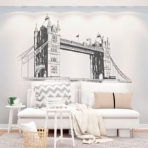 Decorative vinyl walls london tower bridge