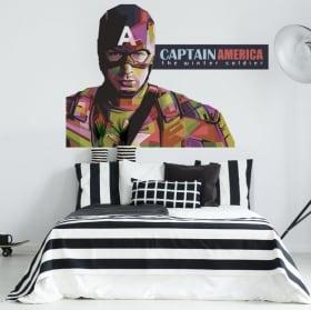 Vinyl walls captain america winter soldier