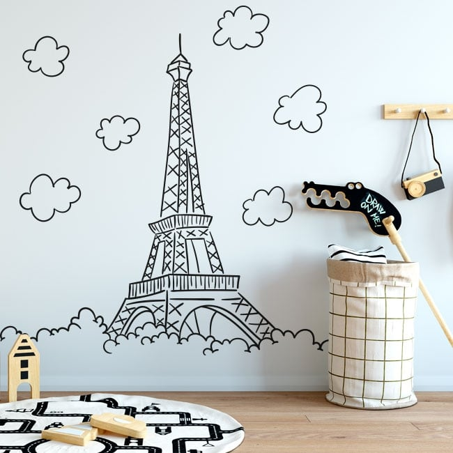 Decorative vinyl paris eiffel tower