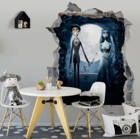 Decorative vinyl corpse bride tim burton 3d