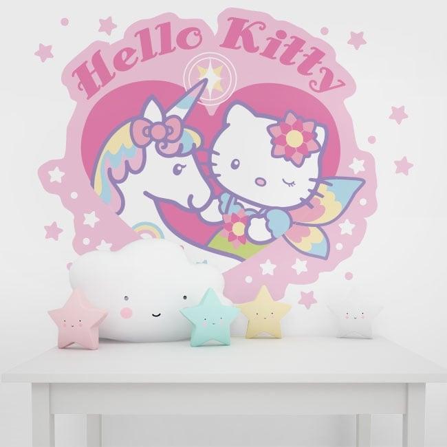 Vinyl and stickers walls hello kitty